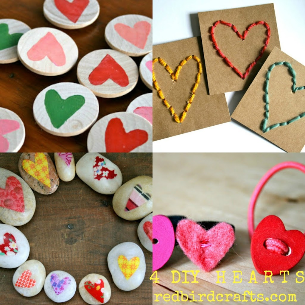 From me to you: Four Valentine's Day Heart Projects