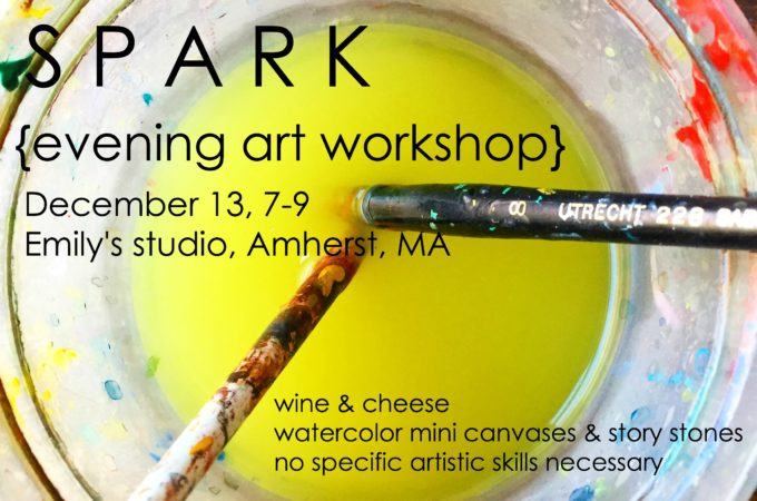 Creative Spark Evening Art Workshop in December